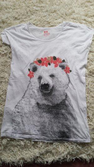 Weißes niedliches Eisbär Shirt von Zalando