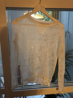 Kraagloze sweater wit