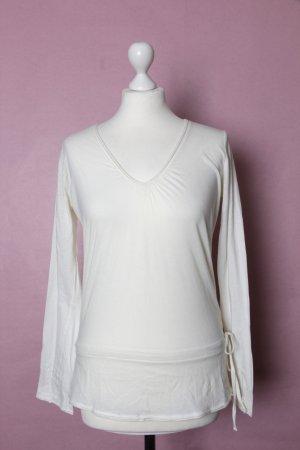 Weißes Oberteil von Esprit mit Schleifchen XS-M