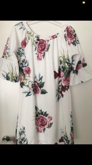 Weißes Off-shoulder Kleid