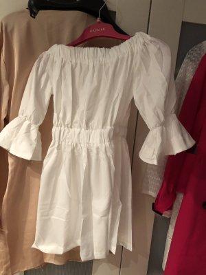 Weißes Off Shoulder Kleid schulterfrei