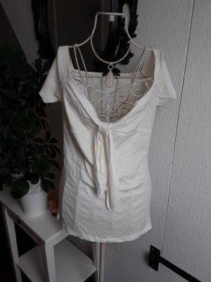 T-shirt bianco-crema
