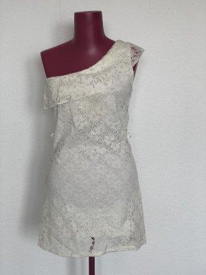Weißes One-Schoulder-Kleid | Gr. 38