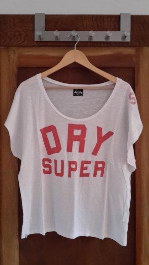 Weißes over size Shirt von Superdry