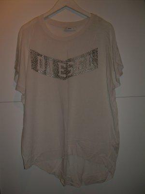 weißes oversize Diesel T-Shirt Gr. L 42 mit Nieten