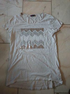 Weißes Pailettenshirt