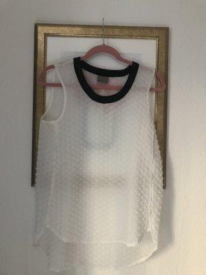 Vero Moda Blouse Top black-white polyester