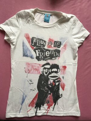 Weißes paul frank t-shirt oberteil shirt größe s 36