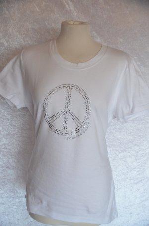 weißes Peace Shirt in XL von Gina Benotti