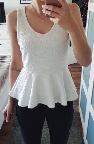 weißes Peblum Top