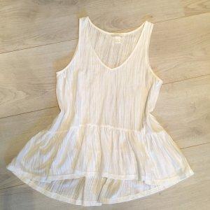 Weißes Peplum Shirt H&M