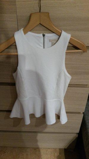 weißes Peplumtop von H&M, neuwertig