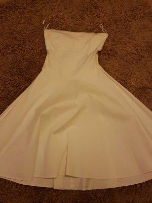 weißes Petticoatkleid ohne unterrock