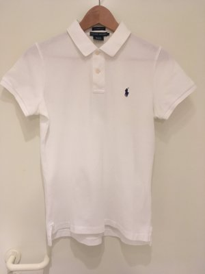 Weißes Polo-Shirt ***skinny*** von Ralph Lauren in Größe 38