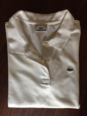 Weißes Polo Shirt von Lacoste Größe 42