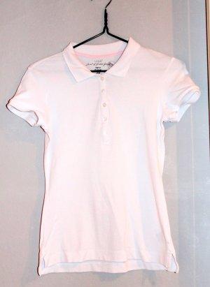 Weißes Poloshirt