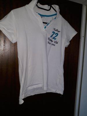 weißes Poloshirt 36
