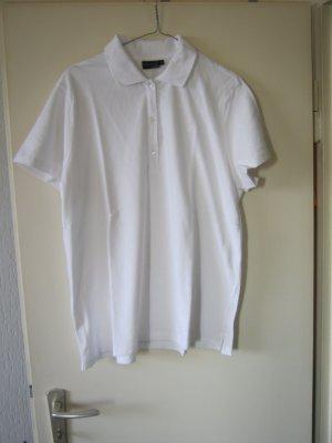weißes Poloshirt Größe 48