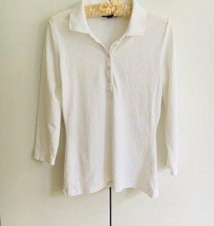 Weißes Poloshirt mit 3/4 Arm von GANT