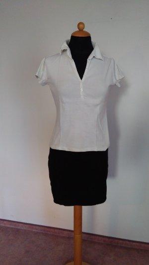 weißes Poloshirt unifarben