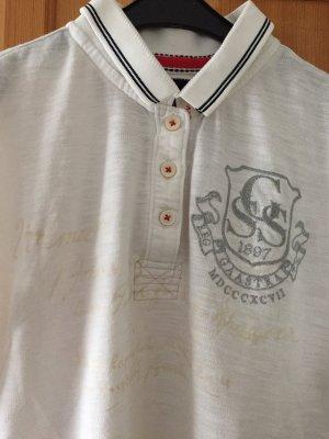 Weißes Poloshirt von Gaastra in Größe L