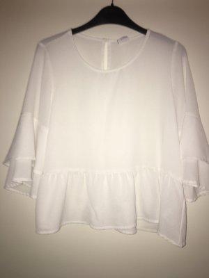 Weißes polyester Oberteil