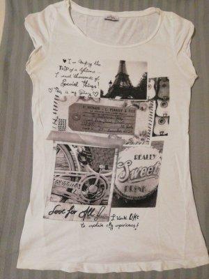 Weißes Print T Shirt