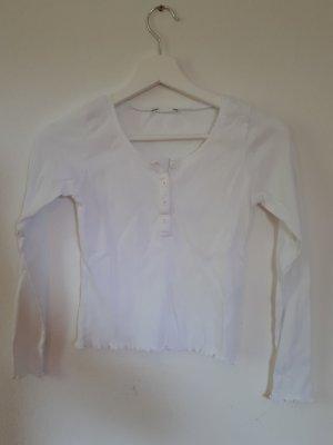 weißes rippshirt
