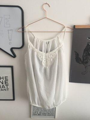Weißes Romantik Trägertop