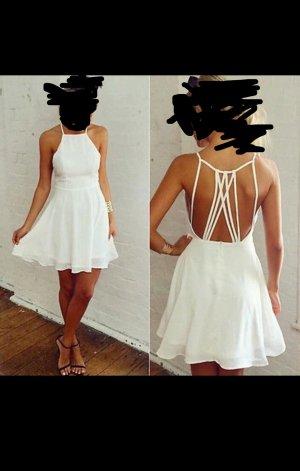 Weißes rückenfreies Minikleid 36