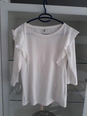 Weißes Rüschen Shirt