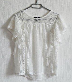 weißes Rüschen-top von H&M