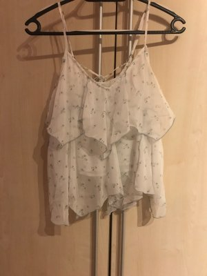 Abercrombie & Fitch Top met franjes wit-azuur