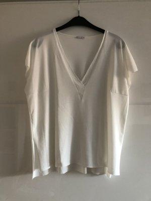 Zara Camisa holgada blanco-blanco puro