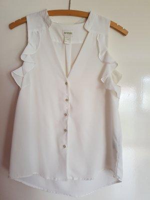 Weißes schlichtes Oberteil H&M