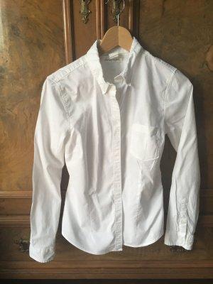 Weißes, schmales Damenhemd, HM Gr.36