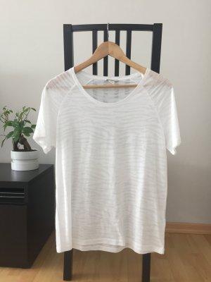 weißes semitransparentes T-Shirt von Monki