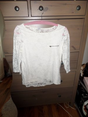 weißes Shirt 3/4