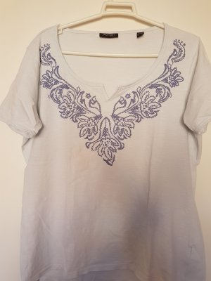 weisses Shirt 40 mit Ethno Print