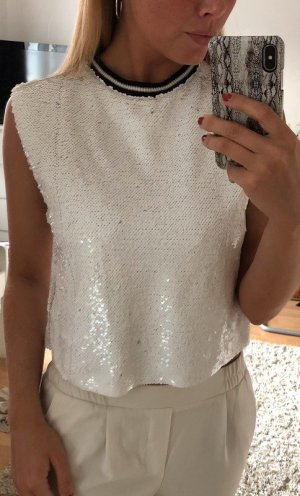Weißes Shirt aus Pailetten