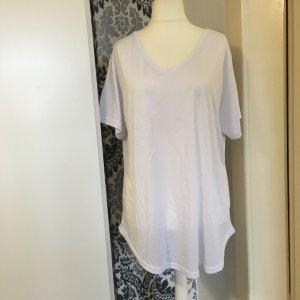 Weißes Shirt Gr 48-50 v-Ausschnitt kurzärmelig