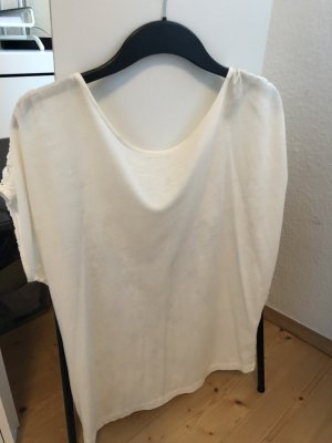 Weißes Shirt in Häkeloptik von Zara