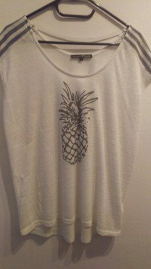Weißes Shirt mit Ananas von Tom Tailor Denim in Größe L