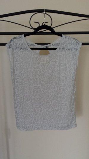 Weißes Shirt mit floralem Muster