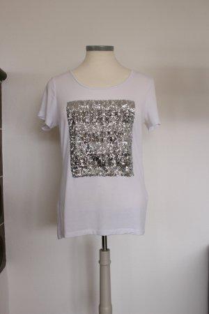 Weißes Shirt mit Glitzer