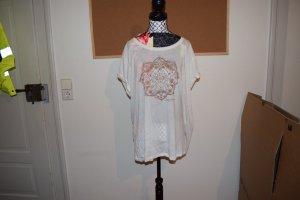 Weißes Shirt mit Goldenem Druck