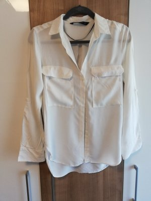 Zara Blouse-chemisier blanc-blanc cassé