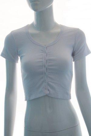 Weißes Shirt mit Knopfleiste (Neu)