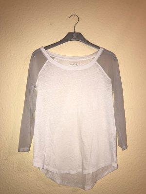 Weißes Shirt mit Netz Ärmeln