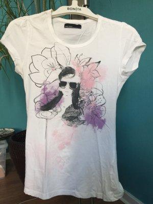 Weißes Shirt mit Print von Vero Moda, Größe S
